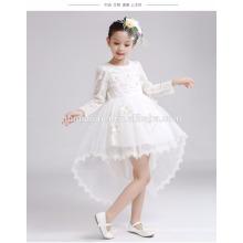 Vestido de boda de las muchachas preciosas de manga larga vestido de novia de invierno y otoño vestido de niña de la cola de pez para el partido y la boda