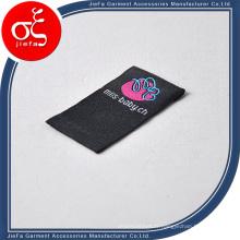 Étiquettes tissées de haute qualité / étiquette tissée de pli de boucle pour l'habillement / pantalons