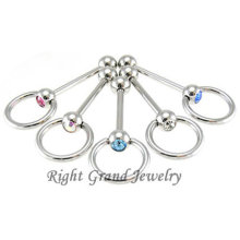 Jewelry Factory Supply Best Seller Tongue Piercing Ball Barbell
