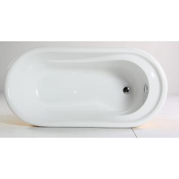 Bañera independiente con acrílico puro