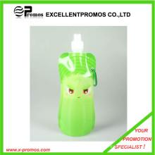 Портативная складная пластиковая бутылка воды объемом 480 мл или 16 унций (EP-B7154)