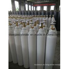 ISO9809 99.9% gas N2o llenado en 40L cilindro gas con válvula Qf-2