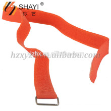 Customized Adhesive Orange Nylon Strap and Hook