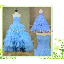 2014 neue Stil blauen Tüll Brautkleid mit Sweathreat Ausschnitt