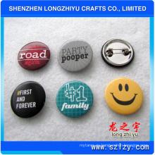 Botón de botones de insignia de estampado impreso