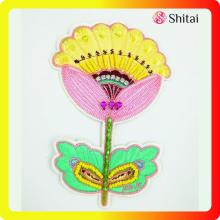 China OEM for Custom Shirt Patches Fashion embroidery flowers with sequins supply to Spain Exporter