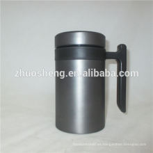 nuevo estilo recipientes por mayor de doble pared de acero inoxidable taza de cerámica taza diseño con mango