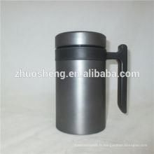 design de tasse de tasse en céramique New style drinkware gros double paroi en acier inoxydable avec poignée