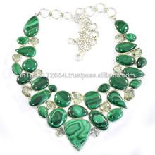Malachite & Améthyste verte avec bijoux faits à la main en argent sterling 925