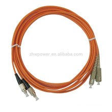 Fabriqué en Chine FC-SC multimode Duplex 50 125 câble fibre optique, câbles à fibres optiques avec le meilleur prix de l'usine de Shenzhen
