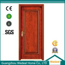 Porta de madeira do núcleo contínuo interior do único MDF do painel para casas