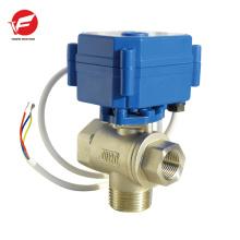 Válvula de control de flujo de polvo eléctrico motorizado automático de 3 vías