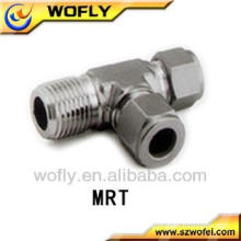 316SS Gas Pipe Fittings Male Run Tee