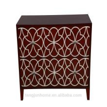 CANOSA 2016 mão esculpida shell água chinesa fresca incrustada madeira Storage Cabinet sala mobiliário