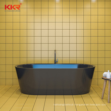 52 inch new model black artificial composite stone resin solid surface bathroom short bathtub to malaysia
