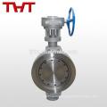 dn50 dn200 dupla válvula de borracha de cana de carbono excêntrica de metal-sede