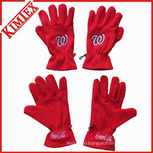 Promotion Customs Cheap Fleece Glove with Logo Embroidery