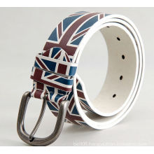 Europeo fashion printed synthetic pu belts with pin buckle