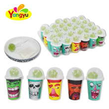 New Drinking Cup Sour Powder Candy Coated With Hard Sweet Lollipop