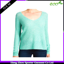 16FZCAS15 rib knitting silk pullover cashmere