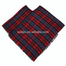 Forme a mujeres Jacquard el poncho del invierno tribal cubre el mantón