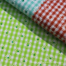 Fashion printed cotton yarn dyed fabric for tablecloth