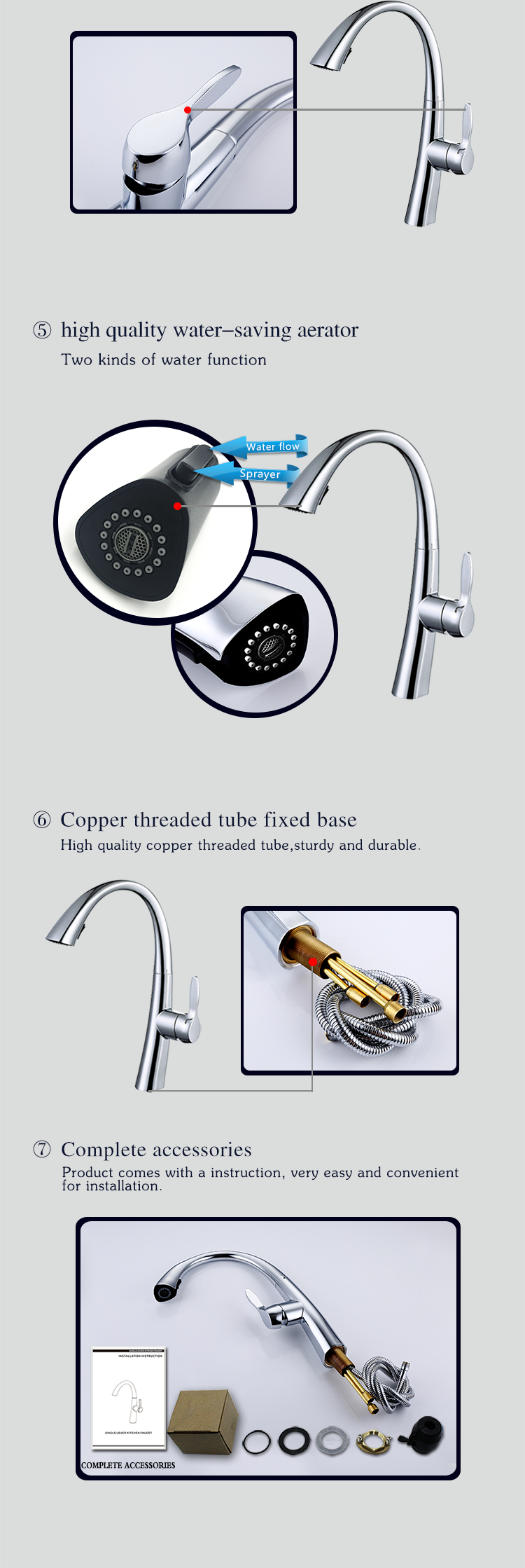 Pull Out Mixer Tap