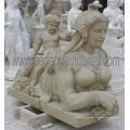 Marmorschnitzerei Statue Antike Skulptur Geschnitzter Stein für Gartendekoration (SY-X1191)