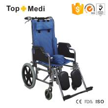 Topmedi Medical Equipment Economical Reclining Backrest Wheelchair for Cp Children