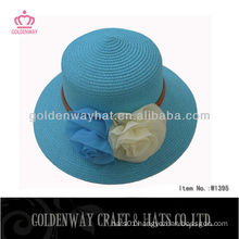 2013 Girl's Sun Hat With Flower Decoration