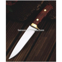 Tactical Military Knife with Rivet Wood Handle
