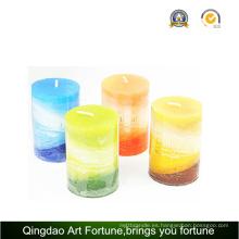 Vela hecha a mano perfumada para la decoración del hogar