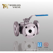 Three Way Flange Connection Ball Valve