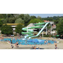 Outdoor Aqua Park Swimming Pool Water Slides , Commercial F