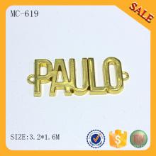 MC619 Atacado ouro de imitação pequena etiqueta de metal personalizado