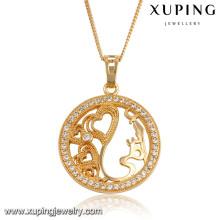 32552 Xuping en gros nouvelle arrivée top qualité synthétique CZ bijoux pendentif de mode pour les femmes