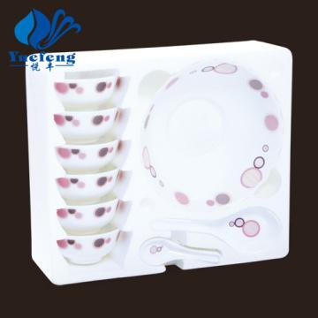 Heat Resistant Opal Glassware-14PCS Soup Set