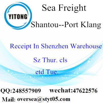 Shantou Port LCL Consolidation To Port Klang