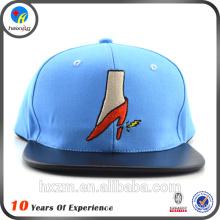 custom leather brim snapback cap