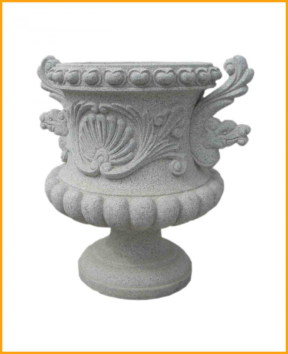 Carved Stone Flowerpots