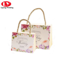 Elegant Gift Flower Paper Bag with Twisted Handle