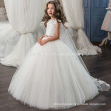 2017 Cheap Wedding Party Formal Flowers Girl Dress sleeveless ball gown beaded lace girls wedding dress