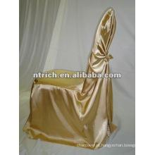 auto amarrar a tampa da cadeira saco de cetim para casamento e banquetes