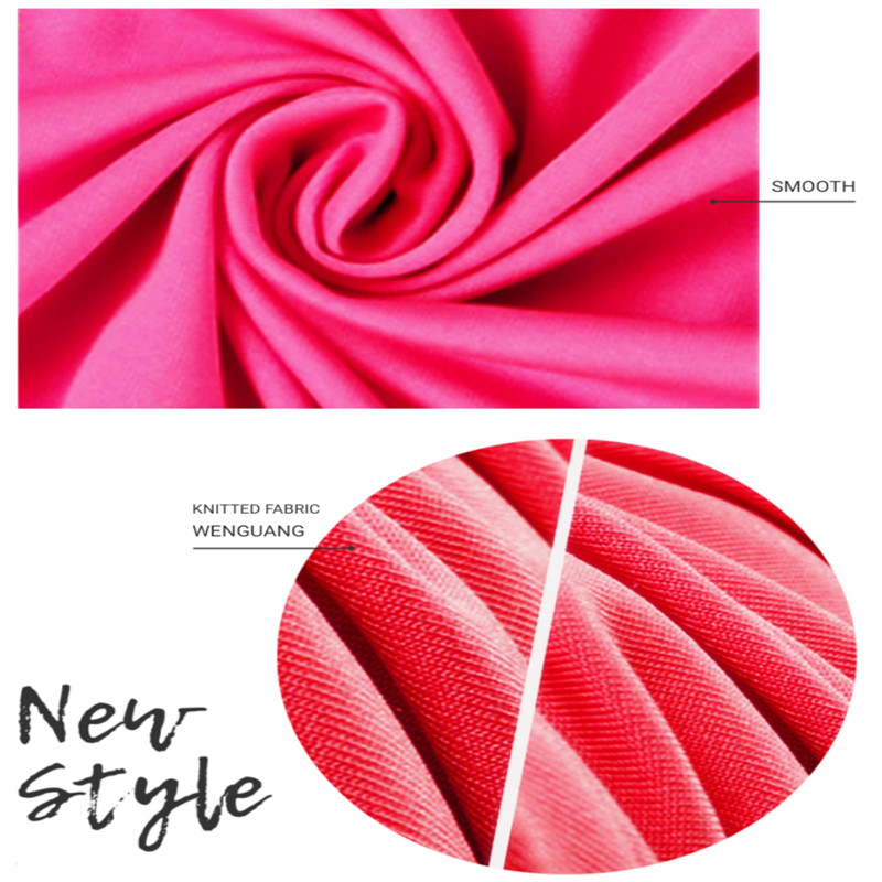 Rose Red Polyester Stretch Smooth Milk Silk Fabric01