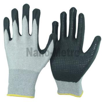 NMSAFETY algodão e nylon luvas de trabalho revestidas com nitrilo