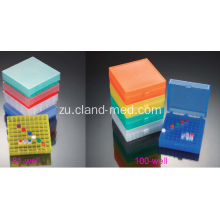 Ibhokisi le-Plastic Cryovial Tube Box 81well