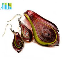 Wholesale Match Earring necklace Multicolor Glass Beads
