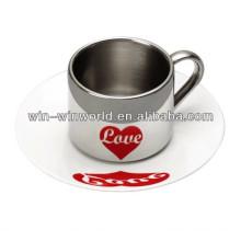 Nuevas tazas de café turcas de moda del acero inoxidable de la placa de cerámica