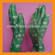 Light Duty Flower Printed Nitrile Dipped Garden Glove