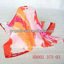 HB002-375 printed square scarf